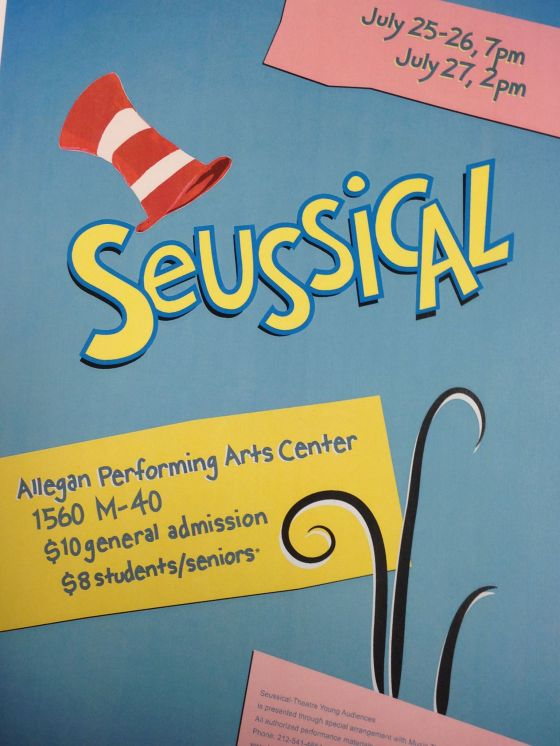 Seussical July 25 & 26th 7PM & 27th 2PM