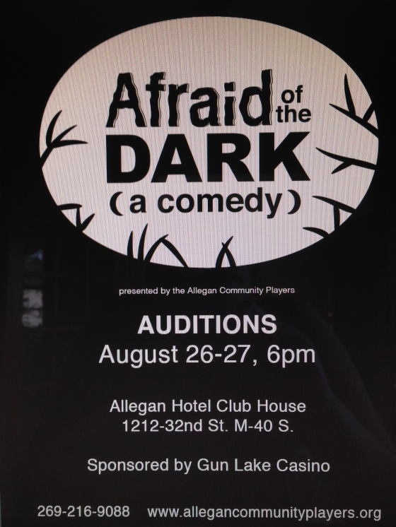 Afraid of the Dark Auditions
