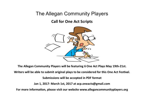 Call for One Act Scripts (2017)
